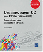 Dreamweaver CC pour PC/Mac (édition 2018), site web, html, feuille de style, css, Quick Tag Editor, Design Notes, Extension Manager, Actifs, Formulaire, Homesite, Dream, dreamwever, LNOW18CCDRE