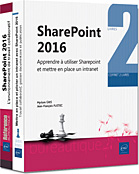 SharePoint 2016, Intranet, site d'équipe, bibliothèque de documents, versioning, partage de documents, tâche, calendrier, forums de discussion, en quêtes, contacts, wiki, centre de recherche, blog, livre sharepoint, sharepoint 2016, GED, pilote, pilotage, workflow, réseau social, RSE, Office 365, livre sharepoint , LNRBSOB16SHA