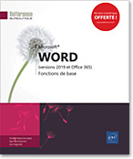 Word (versions 2019 et Office 365), Microsoft, traitement de texte, document texte, word2019, word19, courrier, lettre, LNRB19WORFB