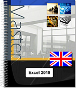Excel 2019 - (E/E) : Text in English with the English version of the software